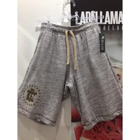 BERMUDA FCL MARROM MESCLA COM DOURADO - FIT CLOTHING