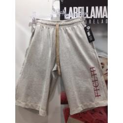BERMUDA FTCLTN CREME COM SILK VERMELHO - FIT CLOTHING