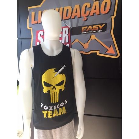 REGATA MACHÃO TÓXICOS TEAM (PRETA/AMARELO) - HARDCORE FITNESS