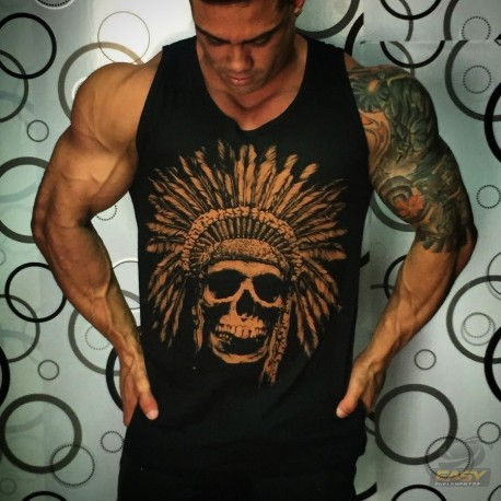 REGATA BODYBUILDING (INDIO CAVEIRA - PRETA) - SOLD OUT CRAZY WEAR