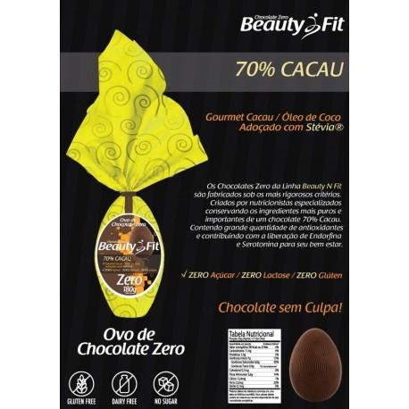 OVO DE PÁSCOA FIT (70% CACAU - 180GR) - BEAUTY FIT