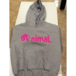BLUSA MOLETOM ANIMAL (CINZA/ROSA) - HARDCORE FITNESS