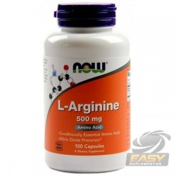 L-ARGININA 500MG (100 CAPS) - NOW NUTRITION