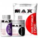 COMBO MAX TITANIUM - MASS TITANIUM (3KG) + BCAA (60 CAPS) + CREATINE (100G)