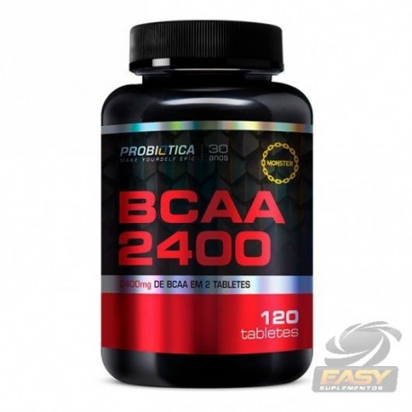 BCAA 2400MG (120 CAPS) - PROBIÓTICA