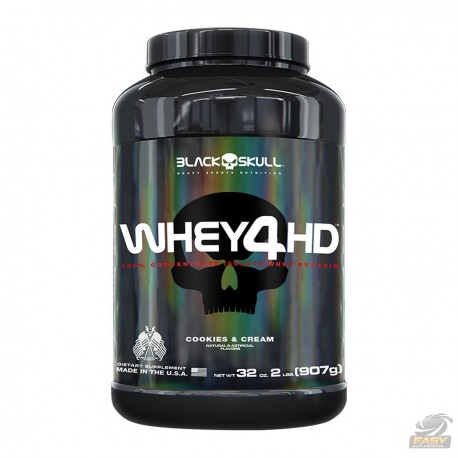 WHEY 4HD (907GR - 2LBS) - BLACK SKULL