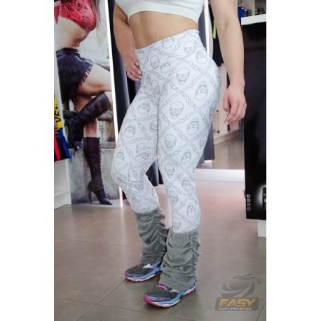 Calça Legging Jackard (BRANCA CAVEIRAS) - PROEZA