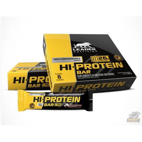 HI-PROTEIN BAR (CAIXA 8 UNI) - LEADER NUTRITION