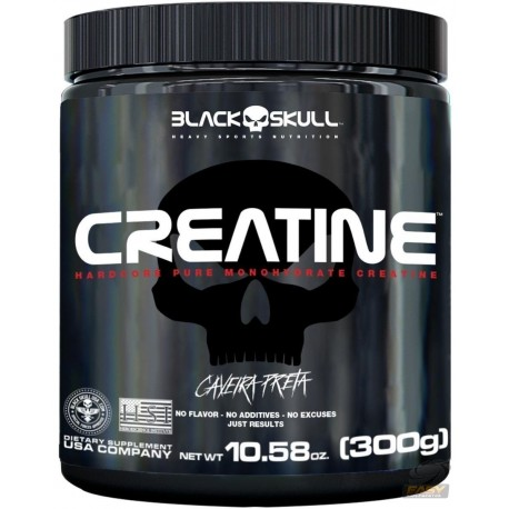 CREATINA CAVEIRA PRETA (300G) - BLACK SKULL