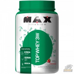TOP WHEY 3W MAIS NATURAL (900G) - MAX TITANIUM