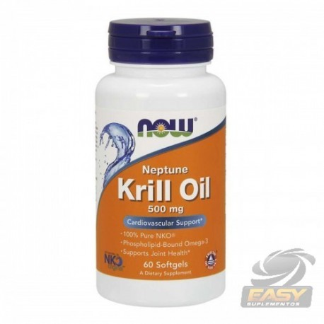 NEPTUNE KRILL OIL 500MG (60 SOFTGELS) - NOW NUTRITION