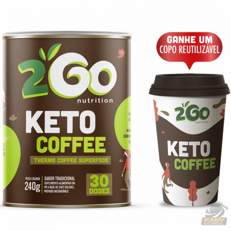 CAFÉ TERMOGÊNICO KETO COFFEE SUPERFOOD (240G 30 DOSES) - 2GO NUTRITION