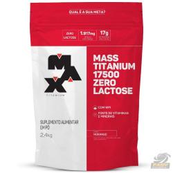 MASS TITANIUM 17500 ZERO LACTOSE (2.4KG - REFIL) - MAX TITANIUM