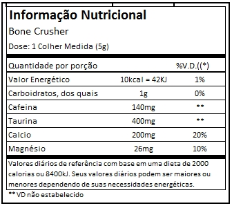 TABELA NUTRICIONAL BONE CRUSHER - BLACK SKULL