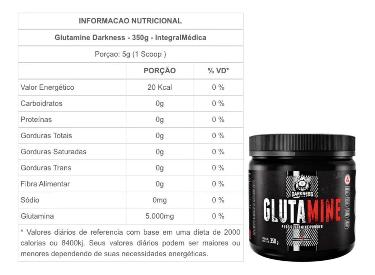 GLUTAMINE DARKNESS (350G) - INTEGRALMÉDICA