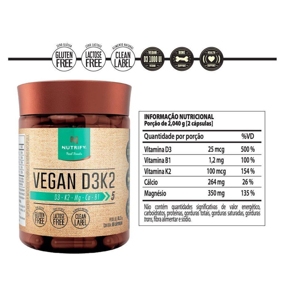 VEGAN D3K2 (60 CAPS) - NUTRIFY