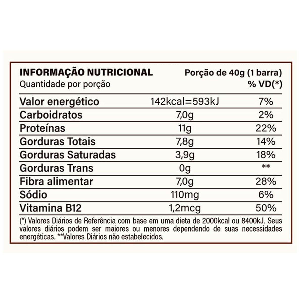 BARRA DE PROTEÍNA VEGANA - YOU VEGAN PROTEIN BAR (C/10 40G) - NUTRATA